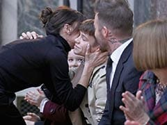 Victoria Beckham Kissing Husband And Kids At Fashion Show Is Super Cute