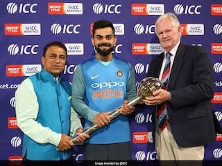 India Captain Virat Kohli Receives Test Championship Mace