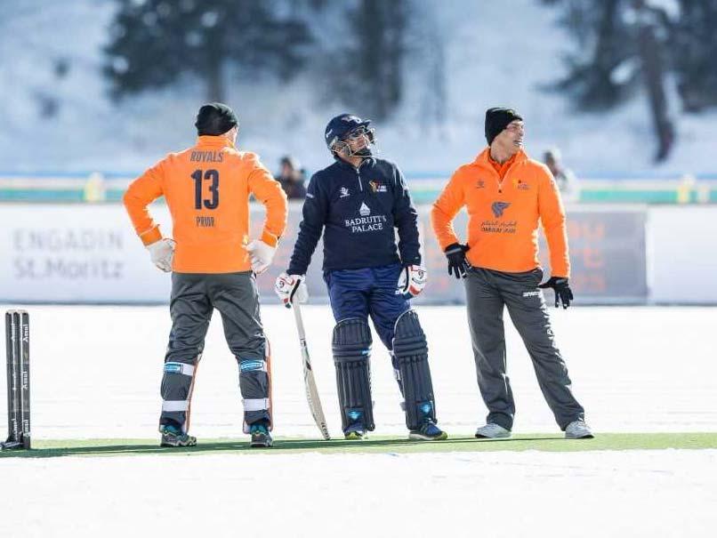 Ice Cricket: Shahid Afridis Royals Beat Virender Sehwags Badrutts Palace Diamonds On Lake St Moritz