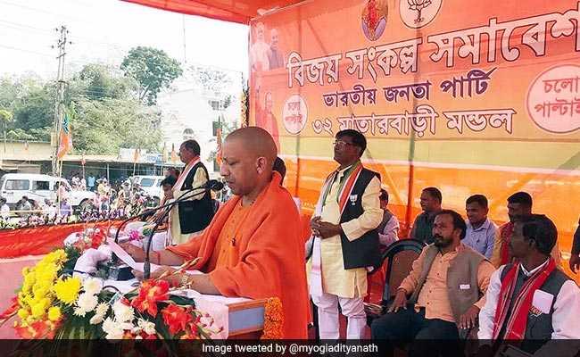 PM Modi's Popularity Will Help BJP Oust Left In Tripura, Says Yogi Adityanath