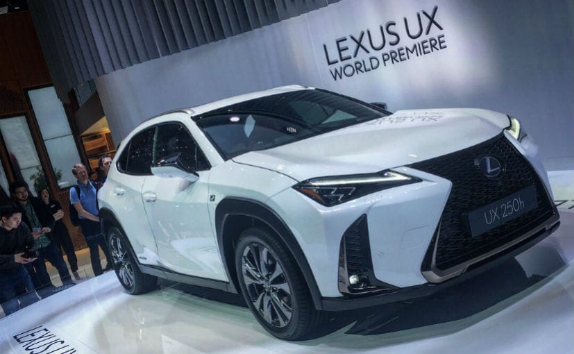geneva 2018 lexus ux compact luxury crossover revealed ndtv carandbike. Black Bedroom Furniture Sets. Home Design Ideas