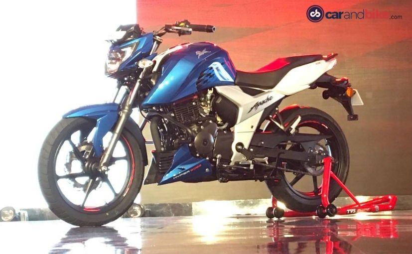 2018 tvs apache rtr 160 4v launched prices start at rs
