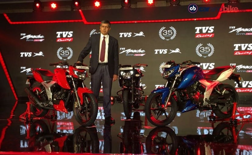 2018 TVS Apache RTR 160 4V Launched, Prices Start At ₹ 81,490
