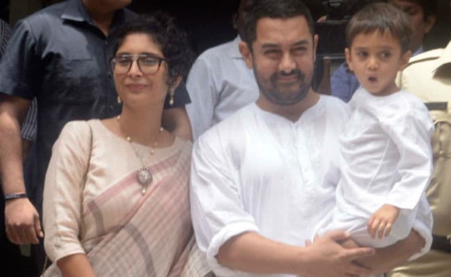 Instagram Rookie Aamir Khan's Second Collage, Featuring Son Azad And Another 'Baby'