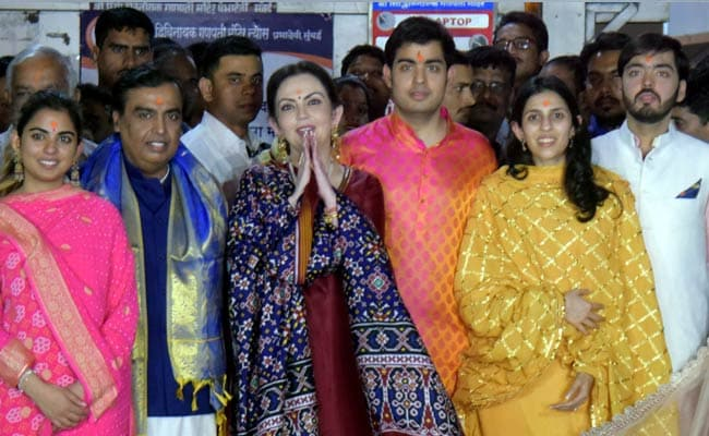 Ambanis, Son Akash With Fiancee Shloka Mehta Visit Siddhivinayak Temple