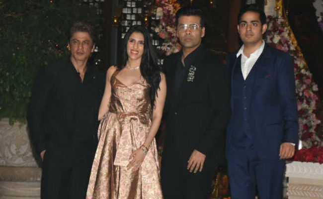 Image result for The stars of Bollywood are present in the engagement of Mukesh Ambani's son Akash Ambani, see photos.