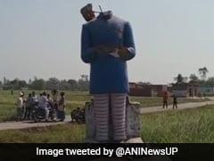 यूपी: दलित बस्ती में लगी अंबेडकर प्रतिमा तोड़ी