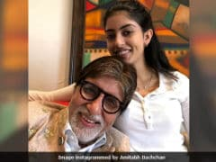 Amitabh Bachchan, Home From Filming <i>Thugs Of Hindostan</i>, Posts A Pic With Granddaughter Navya Naveli
