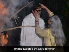 अमिताभ बच्चन ने परिवार सहित जलाई होलिका, इन बॉलीवुड सेलिब्रिटी ने भी दी होली की शुभकामनाएं