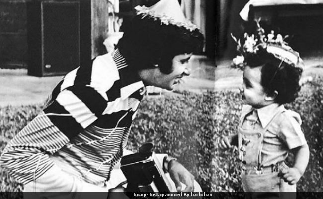 Amitabh Bachchan With... Daughter Shweta Or Son Abhishek? Can You Guess?