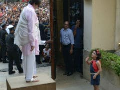 Amitabh Bachchan's Sunday Was Made By A Tiny Fan Who 'Braved The Crowd'
