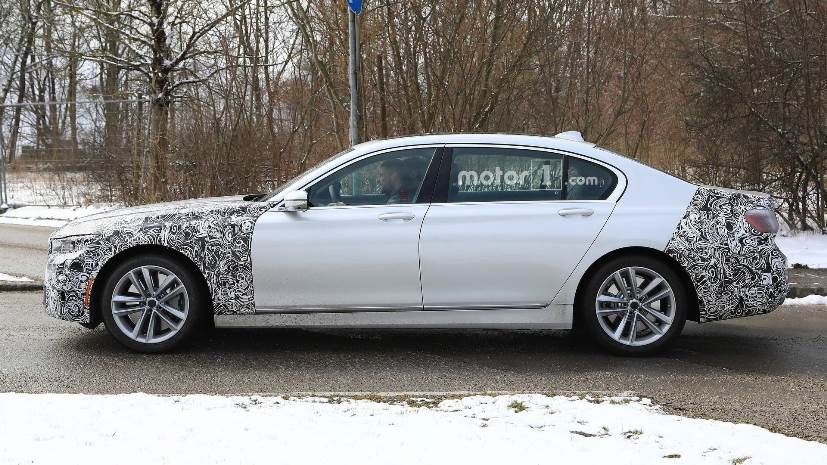 bmw 7 series facelift spied