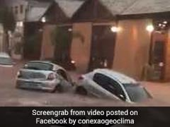 Cars Swept Away As Flash Floods Turn Road Into River In Brazil. Watch