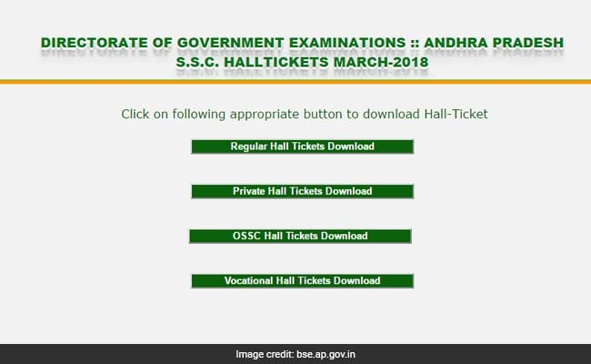 BSEAP SSC Or Class 10 Board Exam Hall Tickets 2018 Released @ Bse.ap.gov.in; Download Now