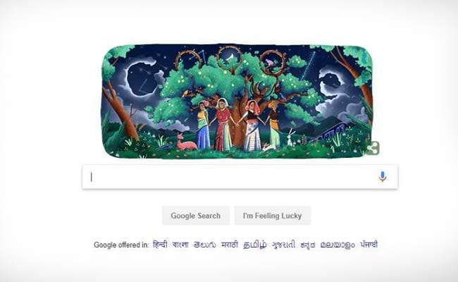 Google remembers Chipko Movement on its 45th anniversary with a doodle