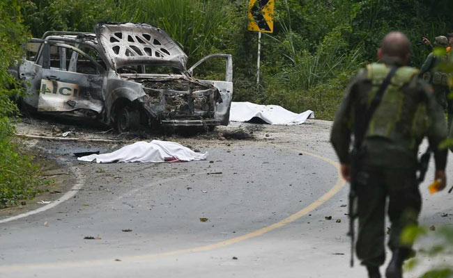 2 Police Officers Killed In Colombia Car Bombing