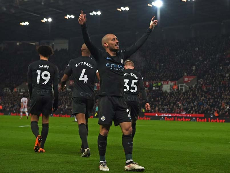 Premier League: David Silva Double Takes Manchester City One Step Closer To Title