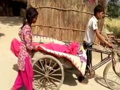 No Ambulance, Son Carries Man's Dead Body On Rickshaw In UP