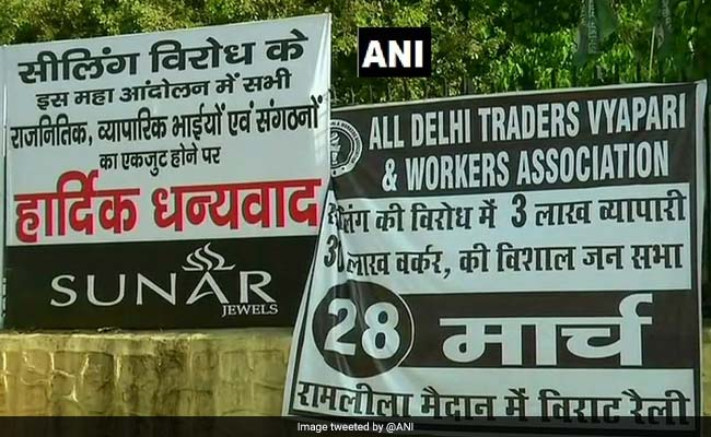 Major Delhi Markets Shut As Traders Down Shutters Against Sealing