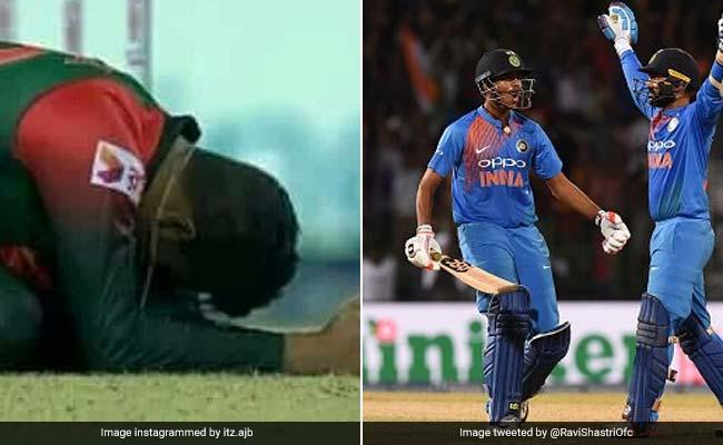 VIDEO: धोनी के अंदाज में खेले Dinesh Karthik, छक्कों को देख रो पड़ा बांग्लादेशी खिलाड़ी