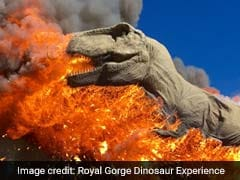 Life-Size Robotic Tyrannosaurus Rex Goes Up In Dramatic Flames