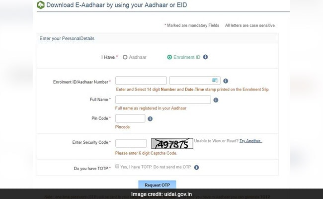 download aadhaar uidai website