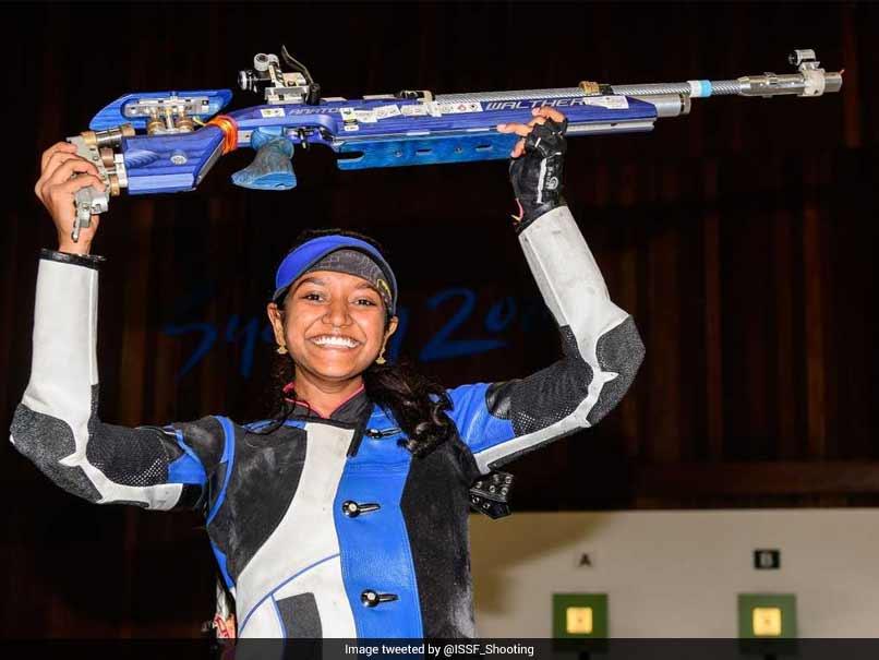 Indias Elavenil Valarivan Wins 10m Air Rifle Gold In Junior ISSF World Cup