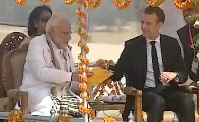 French President Macron Arrives On Four-Day Visit To India