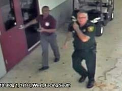Video Shows Florida Deputy Outside Parkland High School During Rampage