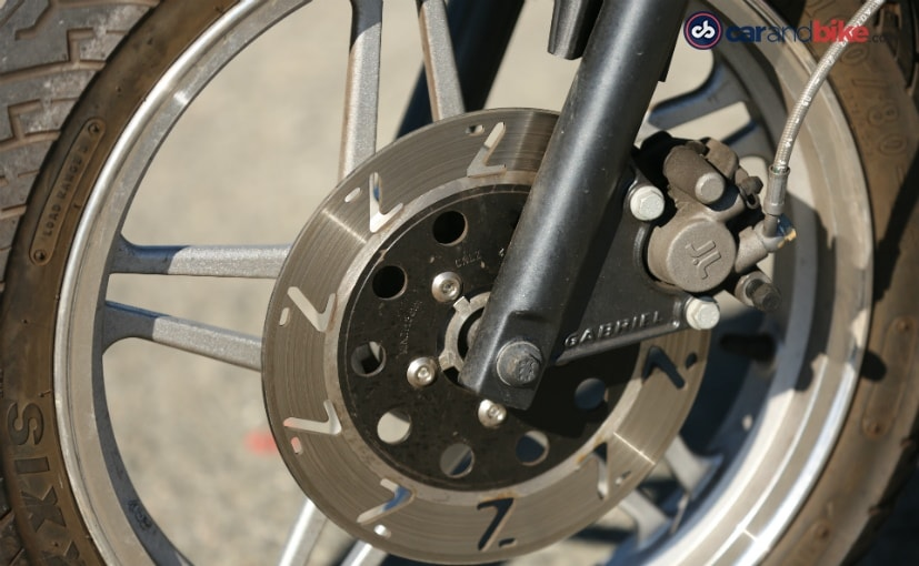 genze electric scooter front disc brake details
