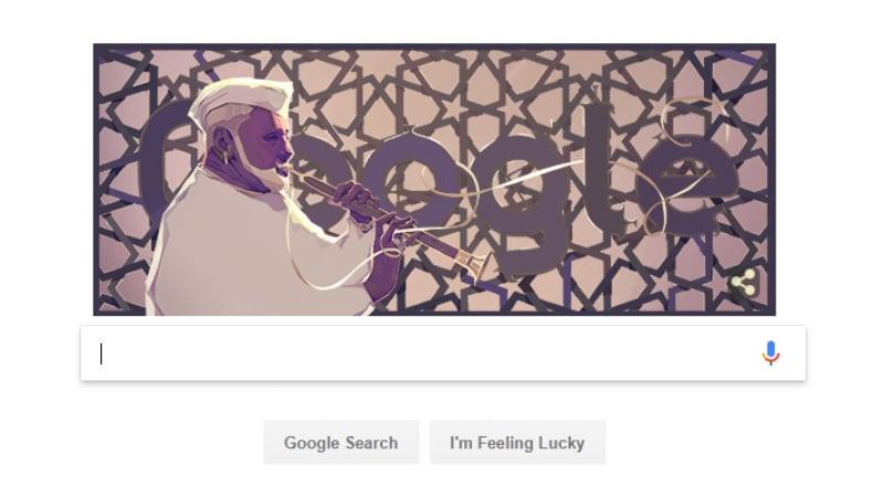 Google Doodle पर शहनाई बजा रहे हैं उस्ताद बिस्मिल्लाह ख़ान