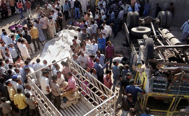 At Least 30 Of Wedding Party Dead After Truck Falls Off Bridge In Gujarat