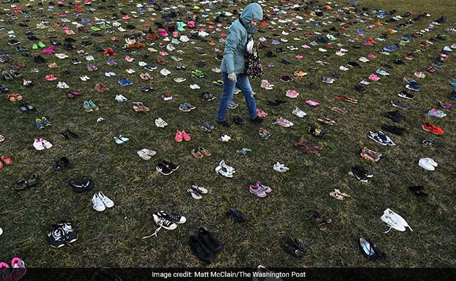 'These Should Be Kids': 7,000 Pairs Of Shoes On Capitol Lawn Show Toll Of Gun Violence