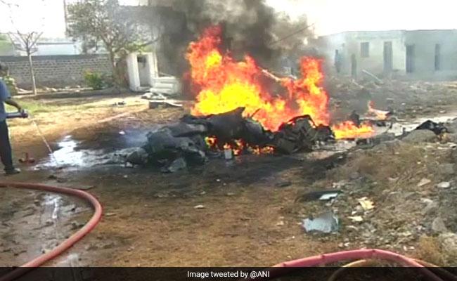 heron drone crash gujarat