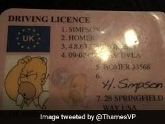 Driver Pulled Over By Cops Presents Them With A Homer Simpson License