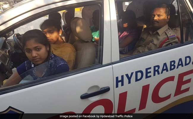 Telangana Cop Helps Stranded Students Get To Exam Centre, Wins Hearts