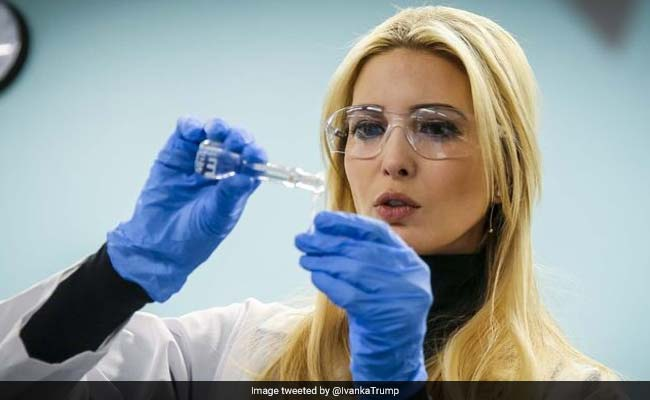 Ivanka Trump 'Pretends' To Be A Scientist. Twitter Turns Her Pic Into A Meme