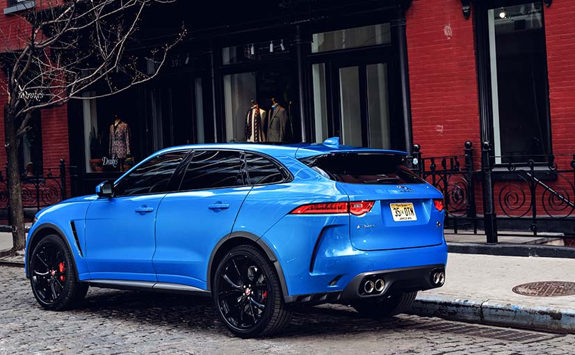 jaguar f pace svr rear