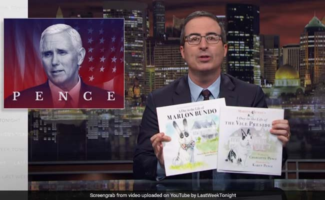 John Oliver spoofs Pence picture book about bunny
