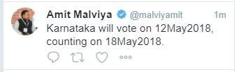 karnataka election amit malviya tweet