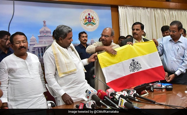 Karnataka Ready With Its Flag To Ask Centre to Clear'Tricolour