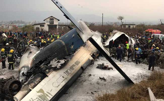 Bangla Airlines plane crashes while landing at Kathmandu airport
