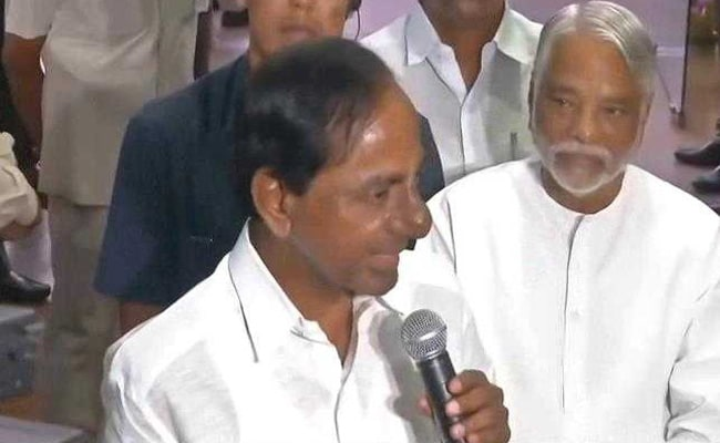 Congress Should Be Ashamed Of Forming Alliance With TDP, Says KCR