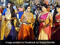 This Kerala Temple Has Got Hundreds Of Men Dressed Up As Women In A Popular Ritual