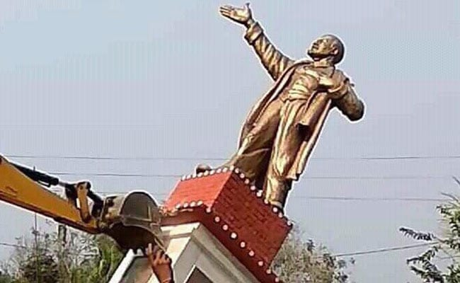 Where Tripura Lenin Statue Stood, Theories On Vandalism Also Pulled Down