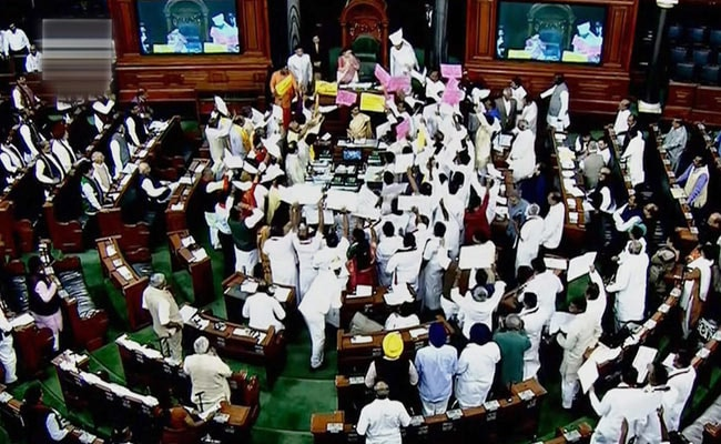 Lok Sabha Proceedings Disrupted For Fifth Consecutive Day