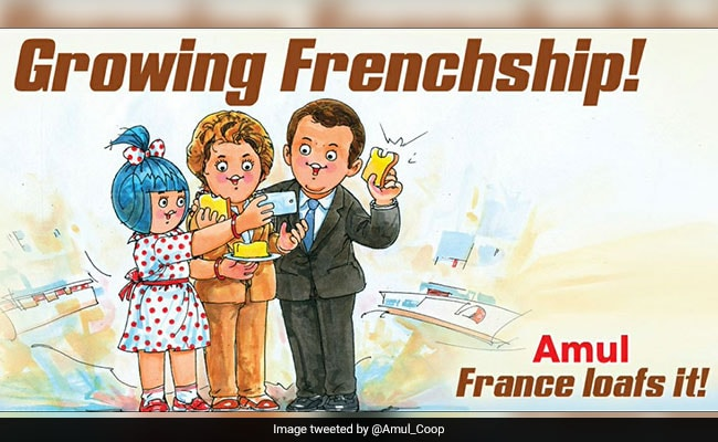 After Emmanuel Macron's India Trip, Amul Cheers 'Growing Frenchship'