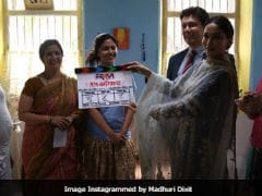 'Excited' Madhuri Dixit Flags Off First Marathi Film - She Produces And Stars