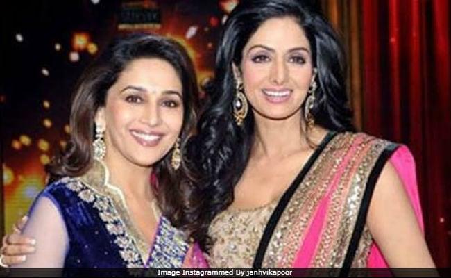 Madhuri Dixit Fills Sridevi's Spot In New Film. 'Thankful,' Posts Janhvi Kapoor