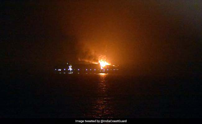 Maersk Ship With 13 Indians On Board Catches Fire Near Lakshadweep Island